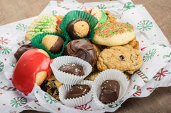 Plate of fancy cookies for holiday Royalty Free Stock Photography