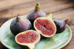 Plate with figs Stock Image