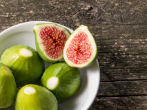 Plate of figs Stock Photo