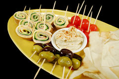 Plate Of Finger Food Stock Images