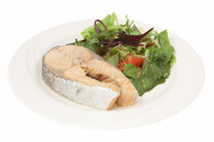 Plate with fish Royalty Free Stock Photo