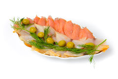 Plate  of fish cuts Royalty Free Stock Images