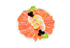 Plate of fish cuts Stock Photography