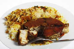 Plate of fish majboos Royalty Free Stock Image
