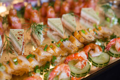 A plate of fish and seafood Royalty Free Stock Photo