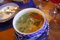 Plate of fish soup Stock Photography