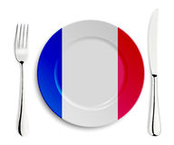 Plate with flag of France Royalty Free Stock Photography