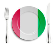 Plate with flag of Italy Stock Image