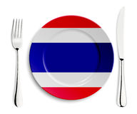 Plate with flag of Thailand Royalty Free Stock Photography