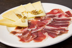 Plate of food. Spanish food. Royalty Free Stock Photos