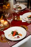 Plate of food during a wedding Royalty Free Stock Photos