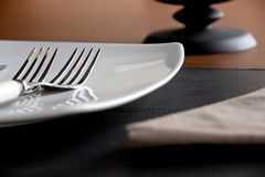 Plate and fork Stock Image