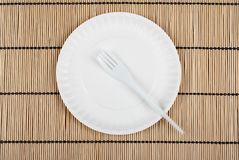 Plate and fork Royalty Free Stock Photo