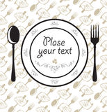 Plate fork spoon Royalty Free Stock Photos