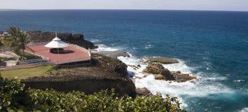 Plate-forme d'arrière de phare d'Arecibo Images libres de droits