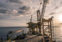 Plate-forme d'installation d'huile et d'industrie du gaz Photos libres de droits