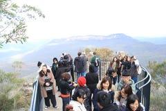 Plate-forme d'observation de montagne Image libre de droits