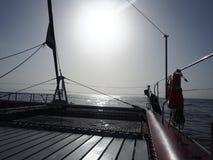 Plate-forme de bateau à voile, Ténérife Photos libres de droits