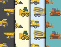 Plate-forme de camionnage d'équipement de construction de véhicule de transport de vecteur de camion de livraison de construction illustration stock