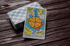 Plate-forme de cavalier-Waite de tarot de cartes Images libres de droits