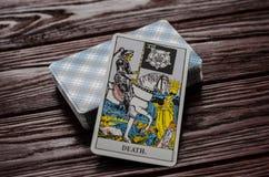 Plate-forme de cavalier-Waite de tarot de cartes Photographie stock