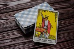 Plate-forme de cavalier-Waite de tarot de cartes Photographie stock libre de droits