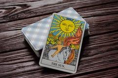 Plate-forme de cavalier-Waite de tarot de cartes Photos libres de droits