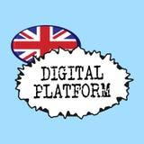 Plate-forme de Digital des textes d'écriture de Word Concept d'affaires pour la campagne de marketing ou le service de marquage à illustration stock