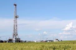 Plate-forme de forage de forage de pétrole Photo libre de droits