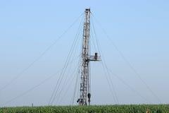 Plate-forme de forage de forage de pétrole Images stock