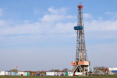 Plate-forme de forage de forage de pétrole Photos stock