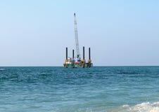 Plate-forme de forage en mer Photos libres de droits