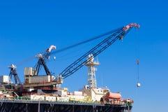 Plate-forme de gaz et pétrolière en Chypre plateforme Photos libres de droits