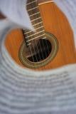 Plate-forme de guitare par les notes Photo libre de droits