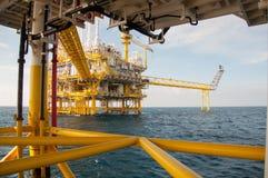 Plate-forme de pétrole et de gaz dans le golfe Photo libre de droits