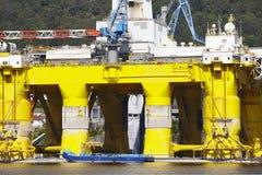 Plate-forme de pétrole et de gaz en Norvège Industrie énergétique pétrole Image libre de droits