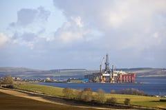 Plate-forme de perçage de plate-forme pétrolière Photographie stock