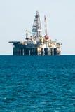 Plate-forme de perçage de plate-forme pétrolière de mer Photos libres de droits