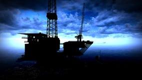 Plate-forme de plate-forme pétrolière Photos libres de droits