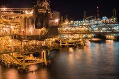 Plate-forme de plate-forme pétrolière Images stock