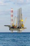 Plate-forme de plate-forme pétrolière image libre de droits