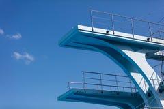 Plate-forme de plongée olympique Photo stock