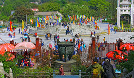 Plate-forme de prière chez Bouddha bronzage tian, lantau, Hong Kong Photographie stock libre de droits