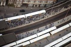Plate-forme de station de pont de Londres Photos libres de droits
