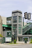 Plate-forme de station de train de West End de parc scientifique de Ligne Verte Photos stock