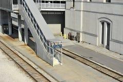Plate-forme de train Photographie stock