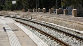 Plate-forme de train en Espagne Photo stock
