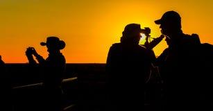 Plate-forme de visionnement d'Uluru Photos libres de droits