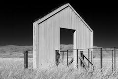Plate-forme de visionnement noire et blanche Image stock