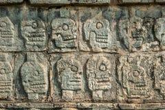 Plate-forme des avirons, Chichen Itza, Yucatan, Mexique Images stock